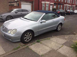 Mercedes Clk, 2005 (05) Silver Convertible, Automatic Petrol, 106,000 miles