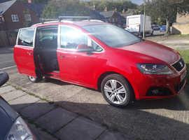Seat Alhambra, 2011 (11) Red MPV, Manual Petrol, 60,765 miles