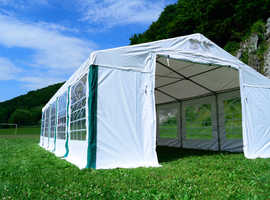 8x8m The New Marquee Garden Tent Party PVC Heavy Duty Waterproof