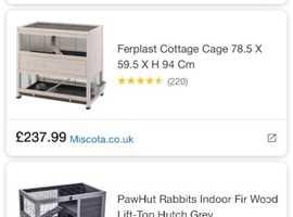 Ferplast indoor hutch/cage