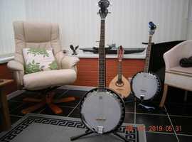 Ashbury 5 String Banjo, Mahogany Rim