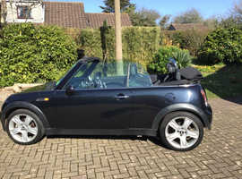 Mini Cooper convertible 2006 (06) Black Convertible, Manual Petrol, 58,540 miles