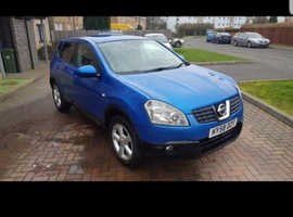 Nissan Qashqai, 2008 (58) Blue Hatchback, Manual Petrol, 71,000 miles