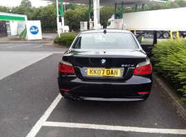 BMW 5 Series, 2007 (07) Black Saloon, Manual Diesel, 127,000 miles