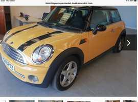 Mini cooper 2008 (58) Yellow Hatchback, Manual Petrol, 82,977 miles