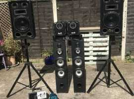 Disco equipment Party set up