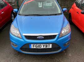2010/10 Ford Focus 1.6 Zetec finished in Denim Blue Metallic. [Best Colour]  68551 miles