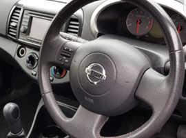 Nissan Micra,ntec  2009 (59) Black Hatchback, Manual Petrol, 78,000 miles