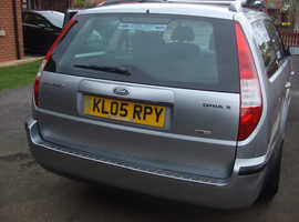 Ford Mondeo, 2005 (05) Silver Estate, Manual Diesel, 107,000 miles