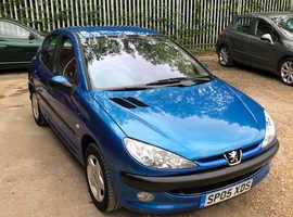Peugeot 206, 2005 (05) Blue Hatchback, Manual Petrol, 53,915 miles