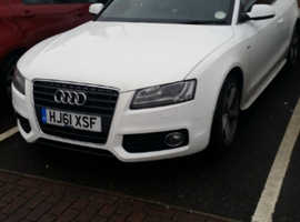 Audi A5, 2011 (61) White Convertible, Manual Petrol, 52,000 miles