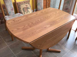 Ercol Drop Leaf Table and Four Dining Chairs