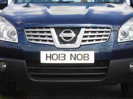 HOB NOB with this unique private number plate!