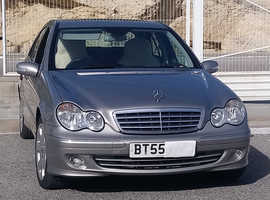 Mercedes C CLASS, 2005 (55) Silver Saloon, Automatic Diesel, 86,800 miles
