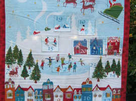 Christmas Town fabric Advent calendar.