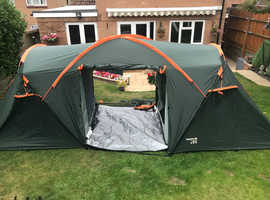 2 Bedroom Regatta Family Tent, very little use, great condition + Ridge Tent