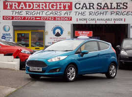 2014/64 Ford Fiesta 1.0 Zetec Eco-Boost finished in Candy Blue Metallic [Upgrade Colour]., 55,959 miles