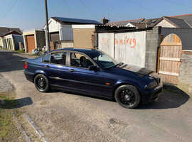BMW 3 Series, 2000 (W) Blue Saloon, Automatic Petrol, 68,458 miles