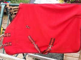 Red fleece foal/mini pony rug