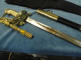 Elizabeth II Royal Navy officers sword