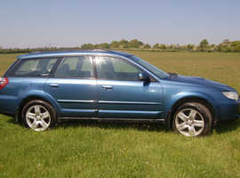 Subaru Outback, 2008 (08) Blue Estate, Manual Diesel, 158,000 miles