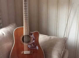 Mint like shop new Washburn electro acoustic guitar