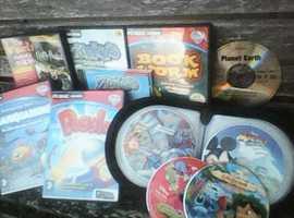 CD-ROM Computer Games for kids + zipper case