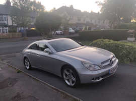 Mercedes Cls, 2006 (06) Silver Coupe, Automatic Diesel, 76,909 miles