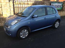 Nissan Micra, 2008 (08) Blue Hatchback, Manual Petrol, 102,000 miles
