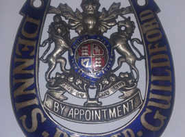 Dennis Bros LTD. Guildford By Appointment Badge