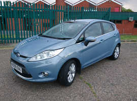 Ford Fiesta, 2009 (59) Blue Hatchback, Manual Diesel, 87,000 miles