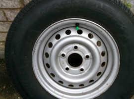 Caravan spare wheel and tyre new unused