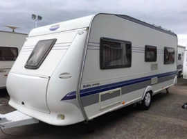 Hobby 495 ufe excellent (08) 20ft Single Axle With Awning,skirts and motor mover