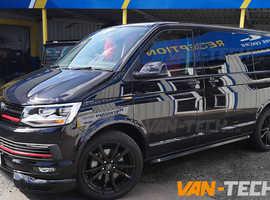 VW T5 T5.1 T6 T6.1 Black Angular Side Bars £140 SWB £150 LWB