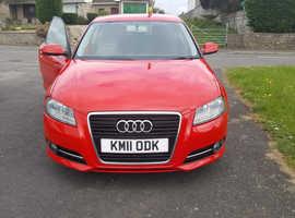 Audi A3, 2011 (11) Red Hatchback, Manual Diesel, 79,000 miles