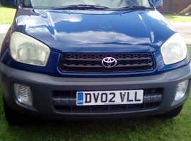 Toyota Rav4, 2002 (02) Blue Estate, Manual Petrol, 1,001,000 miles