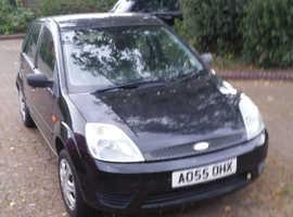 Ford Fiesta, 2005 (55) Black Hatchback, Manual Petrol, 131.000 miles