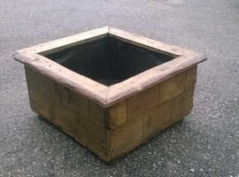 Large Heavy & Robust Garden Planter Handmade from Old Reclaimed Timbers