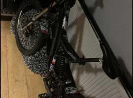 Downhill bike suspension bike
