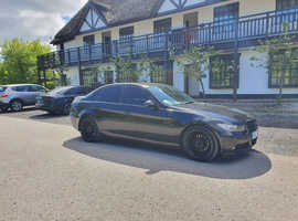 BMW 3 Series, 2006 (06) Black Saloon, Manual Petrol, 119,500 miles