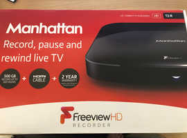 Manhattan T2-R 500 GB Freeview HD Recorder 500 GB - Black
