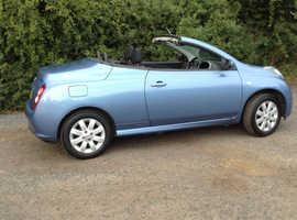 Nissan Micra, 2008 (08) Blue Convertible, Manual Petrol, 45,000 miles