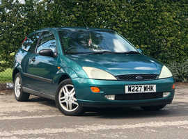 2000 (W) FORD FOCUS 1.8 ZETEC 3 Dr Hatchback in GREEN, ONLY 75K MILES, NEW 12 MONTH MOT