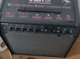 120 watt guitar amplifier with model and effects