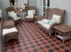 7-piece CANE-type furniture  -   SOLD.