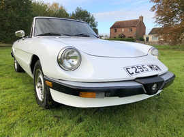 1986 Alfa Spider, Graduate LHD model, 2.0 inject, Bianco, vgc, drives superbly