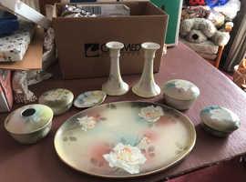 Vintage Royal Staffordshire Dressing table Set
