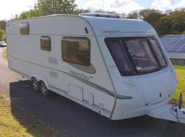2006 abbey freestyle 640se 6 berth twin axle touring caravan