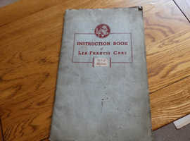INSTRUCTION BOOK OF LEA-FRANCIS CARS 14 h.p. MODELS