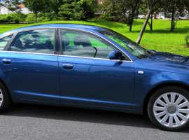 Audi A6, 2008 (58) Blue Saloon, Manual Diesel, 71,000 miles